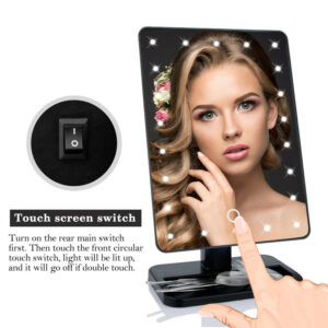22 LED makeup mirror with touch screen