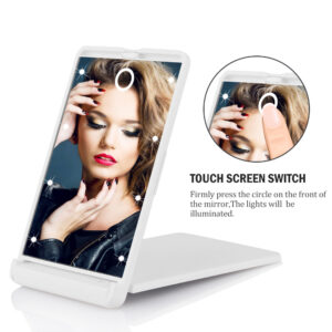 LED foldable makeup mirror